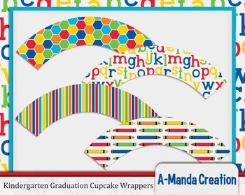 Kindergarten and Preschool Graduation Cupcake Wrappers