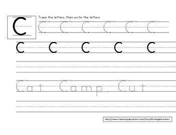 Kindergarten and Preschool Handwriting Capital Letters A to Z