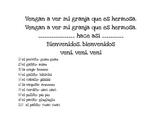 Kindergarten and Preschool Spanish Farm Lyrics Activity- Vengan a ver mi granja