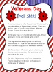 Kindergarten and Primary Veterans Day Package {Writing, math and craftivity}