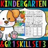 Kindergarten and grade 1 literacy and math skills set 3