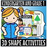 Kindergarten and grade 1 /3d shapes/ fun/ activities