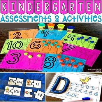 Back to School Kindergarten Assessments and Activities