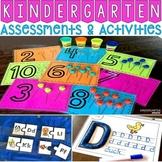 Back to School Kindergarten Assessments and Activities: Math & Literacy BUNDLE