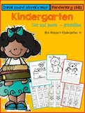Kindergarten beginning sound identification and handwriting