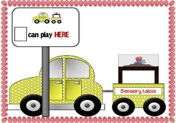 Kindergarten center labels