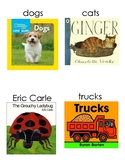 Kindergarten classroom library book box labels