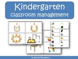 Kindergarten classroom management task cards and name cards