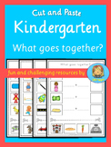 Kindergarten cut and paste activity  What goes together?
