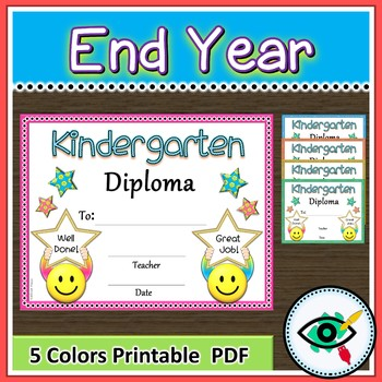 Kindergarten diploma end of year