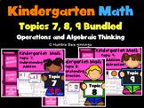 Kindergarten Math, Topics 7 - 9 Bundled