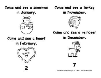 Kindergarten Emergent Readers Set BB: Comic Sans Font