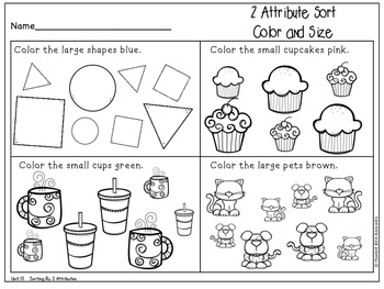 Kindergarten Math - Topic 13: Sorting and Classifying Data ...