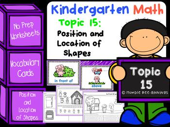 Kindergarten Math - Topic 15: Position and Location of Shapes
