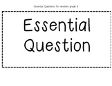 Kindergarten enVision essential question cards