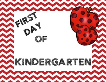 Kindergarten 1st Day Picture Signs