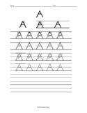 Kindergarten hand writing practice
