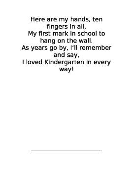 Kindergarten handprint craft