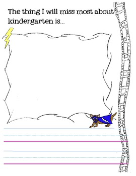 Kindergarten in a Flash..End of year journal