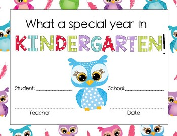 Kindergarten in of the Year Special Awards