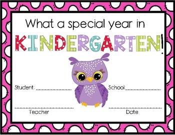 Kindergarten in of the Year Special Awards