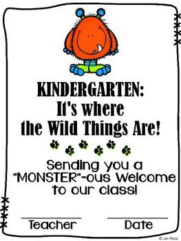 Kindergarten (incl. Junior, Senior) First Day Certificate - Wild Things