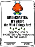 Welcome to Kindergarten (+Junior, Senior) First Day Certificate - Wild Things
