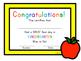 Kindergarten First Day of School Certificate (incl. Junior, Senior)