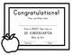 Kindergarten First Day of School Certificate (incl. Junior