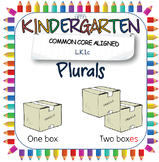 Kindergarten introduction to plurals; adding s or es PowerPoints and printables
