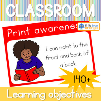 Kindergarten learning objectives display posters: 140+ learning objectives