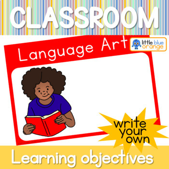 Kindergarten learning objectives display posters