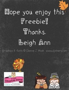 Kindergarten morning work FREEBIE! - Thanksgiving