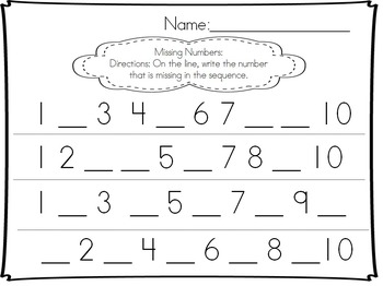 Kindergarten numbers!  (Counting and cardinality, writing, cut and paste)