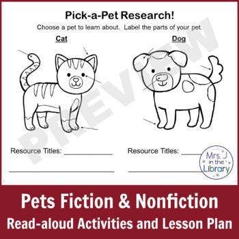 Kindergarten or 1st Grade Pet Books & Research Unit (Activity Booklet & Lesson)