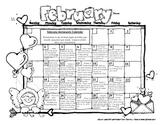 Kindergarten or First Grade Monthly Homework Calendar February