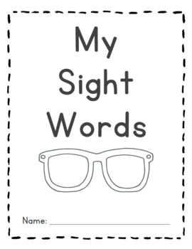 |Kindergarten & First Grade| Sight Word Checklist Book by Guided Reading Level