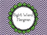 Sight Word Hang Man Reading Center Game