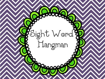 Sight Word Hang Man Reading Center Game