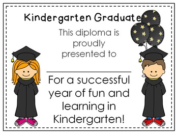 kindergarten or preschool graduation diploma editable freebie