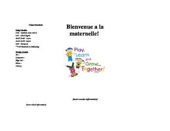 Kindergarten pamphlet