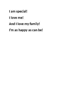 Kindergarten poems for first nine weeks