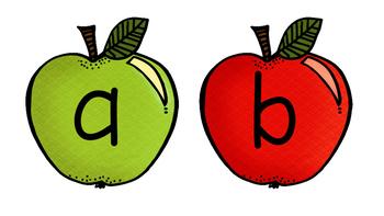Kindergarten/preschool A-Z apples for display