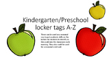 Kindergarten/preschool A-Z apples for display