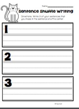 Fluency Activity Kindergarten Tim and Sam