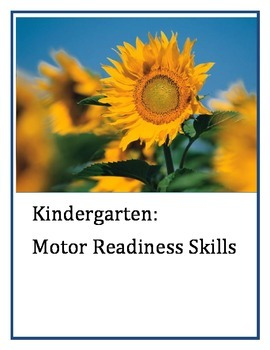 Motor skills for Kindergarten ages~:FREEBIE:~