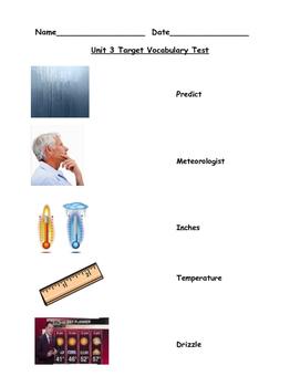 Kindergarten readygen Unit 3B Vocabulary Assessment
