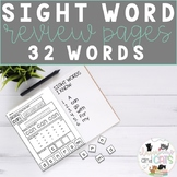 Sight Word Review Worksheets for Kindergarten