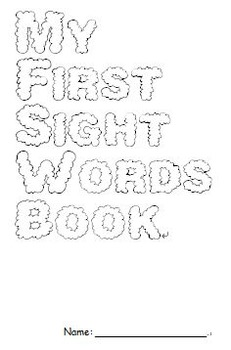 Kindergarten sight words tracing writing book