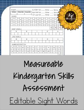 Measurable Kindergarten Complete Skills Assessment